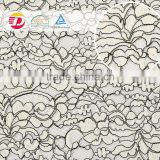 wholesale cheap price high quality polyester white cord lace fabric for bridal wedding dress