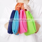 Multifunction cotton mesh storage bag toiletry bag/cosmetic bag/digital gear