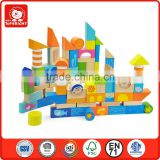Wooden games environmental safty building block 100 pieces block by wood material