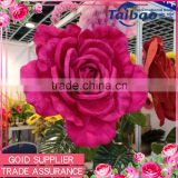 Wholesale velvet fabric pink giant artificial flower decoration for wedding background