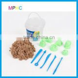 Factory Audited Magic Modeling Sand Wholesale 600g Color Sand with Castle Moulds and Tools