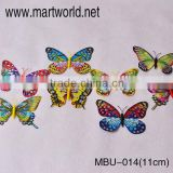 11cm Colorful artificial feather butterflies for wedding decoration;Delicate feather butterfly garland for events&party(MBU-014)