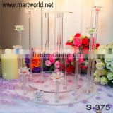 Beautiful flower shaped crystal cake stand,fashionable wedding cake stand for wedding decoration/party(S-375)