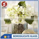 tall cylinder frosted decorative glass vase