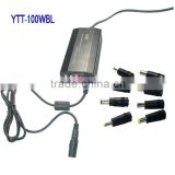 100W universal laptop adapter with USB port and ALUMUNIUM case AND voltage digital screen use for home (YTT-100WBL)