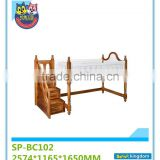 Loft bed with staircase for sale,fancy wooden bedroom forniture for kids,funny sets ,SP-BC102