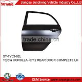 JUNCHENG Rear Door for Toyota Corolla 07-12 Auto Spare Parts