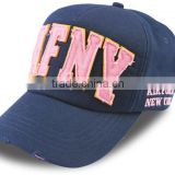 Custom Fashion Brushed Cotton Cheap 3D Embroidery Worn-out Baseball Caps