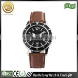 Rotating bezel men stainless steel wholesale wrist watch