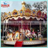 Amusement park equipment rotary carousel horse for sale