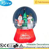 6.5 ft Santa Snowman Tree Animated Snow Globe Christmas Airblown Inflatable