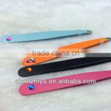 High quality promotion / advertising eyebrow tweezer with diamond