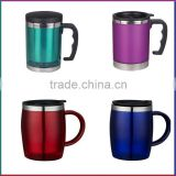 2014 hot sale promotional plastic insulated thermos travel coffee mug                                                                         Quality Choice