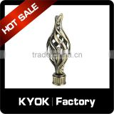 Muslim style diamond decorative curtain rod finial, new design AB color curtain pipe head, 2016 best sale curtain rod finial                                                                                                         Supplier's Choice