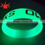 Wholesale bulk cheap custom glowing silicone bracelet                                                                         Quality Choice