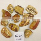 White Natural Baltic amber stone 100-200 (polished)