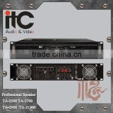 ITC TA Series Stereo Bridge Parallel Supported Internal Sound Processor 2 Channel Power Amplifier Professional
