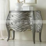 CF30112 Zebra Bombe Cabinet Bombay Chest Luxury Chest