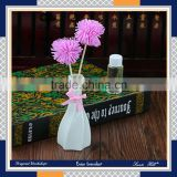 handmade colourful pink /blue sola flower liquid incense sticks plaster air freshener ceramic flower fragrance reed diffuser
