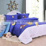 new style 100% cotton lovely cartoon girls and boys figure bedding set for kids