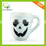 Artwork Hand painted pottery porcelain coffee cups with face print