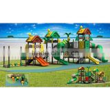 Recycled LLDPE treehouse style outdoor spiral slide with 19 optional site sizes