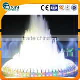 With AC24V led fountain waterproof light diameter 3m musical garden water wedding cake fountain