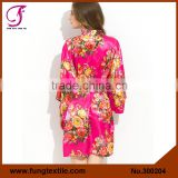FUNG 3002 New Floral Silk Luxury Bathrobe