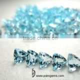 Sky Blue Topaz Semi Precious Gemstone Trillion Faceted For Diamond Ring From Manufacturer/Wholesaler