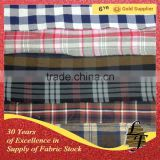 Hot sale china supplier plain dyed flannel check stock lot fabric