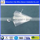"Wholesale cheap China suppliers produced fiberglass ribs 23"" 2015 promotional deep transparent PVC&POE umbrella"