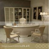 AT12-09 classic executive office desk with solid wood from JL&C luxury furniture(China supplier)