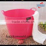 Soft and large capacity plastic multi-purpose basket mould,laundry basket mould,storage basket mould