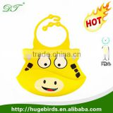 2016 Design Silicone Baby Bibs in Crumb Catcher