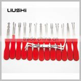 14 pcs HUK Auto stainless Scissors handssors Car Lock Opener for locksmith tools Lock Pick