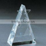 Grade A crystal blank block with engraved for crystal trophy and award (R-0366)