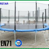 China Kids Gymnastic Bungee Amusement Park Fitness Jumping With TUV-GS Trampoline Fourstar 16ft