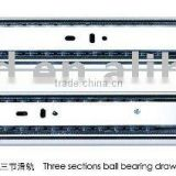 3 fold ball bearing drawer silde/track/runner/glide channel