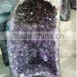 Natural Amethyst Brazil Crystal Geode / Collectible Large Semi Precious Geode