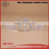 cheap miss world crown tiara for bride or pageant