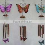 handpainted metal butterfly wind chime for home decoration