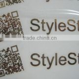 2014 thin nickel electroplated self-adhesive metal plate sticker