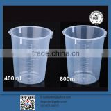 High quality measuring cup 400ml 100ml plastic measuring beaker