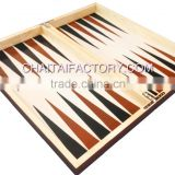 High Quality Paper Laminate Faux Wood Backgammon Set
