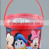 plastic popcorn bucket with lid