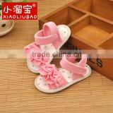 Wholesale summer pink baby girl sandal shoes kids toddler prewalk simple baby girls sandals
