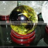 Wholesale sale nature simple citrine crystal quartz sphere/ball for home decoration