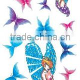 colourful butterfly temporary body tattoo stencil