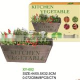 2015 popular DIY/unfinished wooden kitchen herb planter pot with screws and soil/growing medium and vegetable seeds