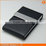 Factory custom employee card holder clear leather business card case, smart leather business card case